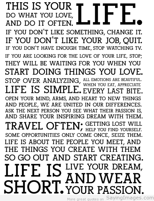 This Is Your Life Quote Interesting This Is Your Life  The Art Of Fearless Living