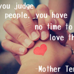 DO NOT JUDGE, JUST LOVE