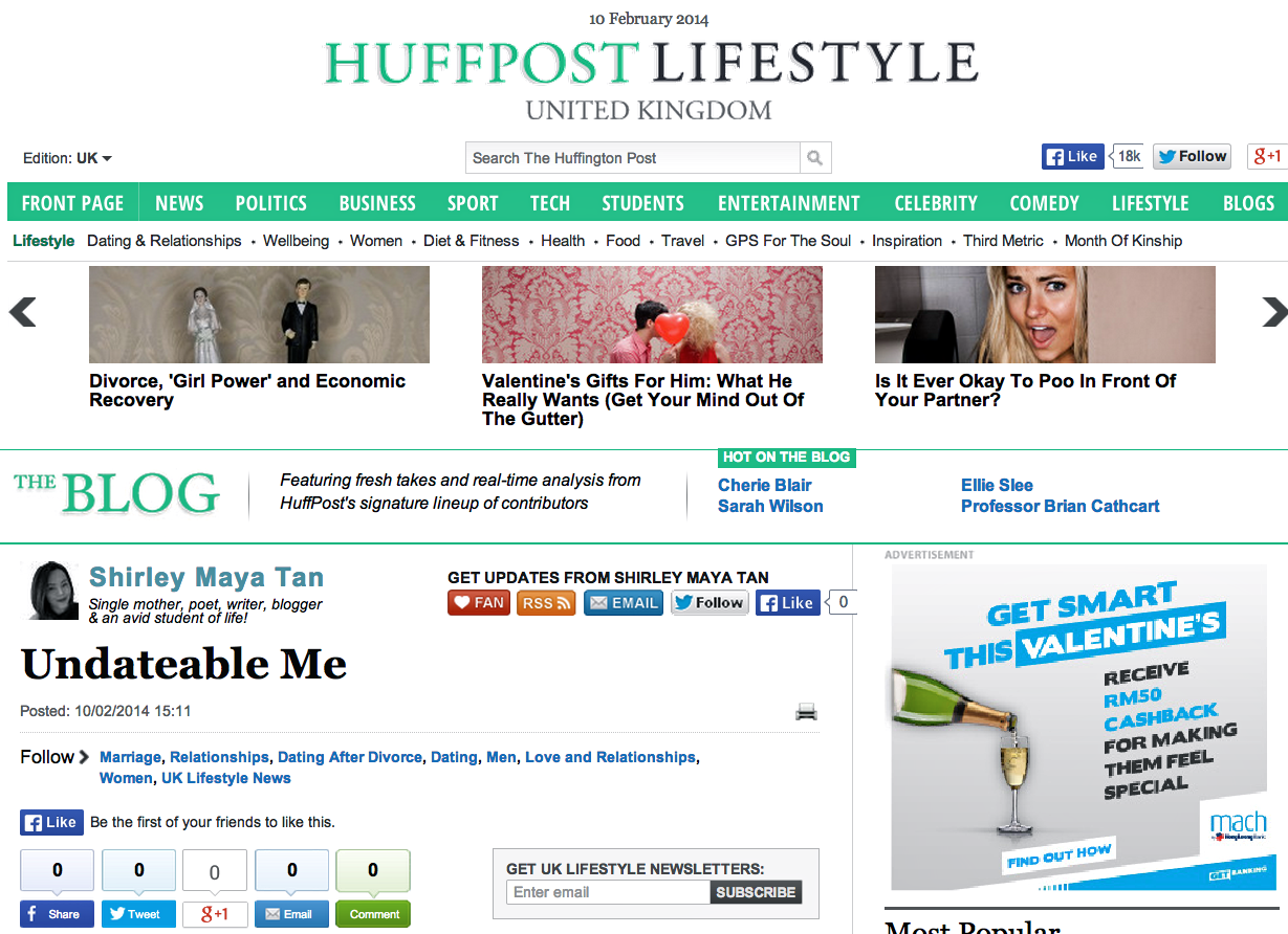 The Art Of Fearless Living: A Fearless Milestone For Huffington Post UK
