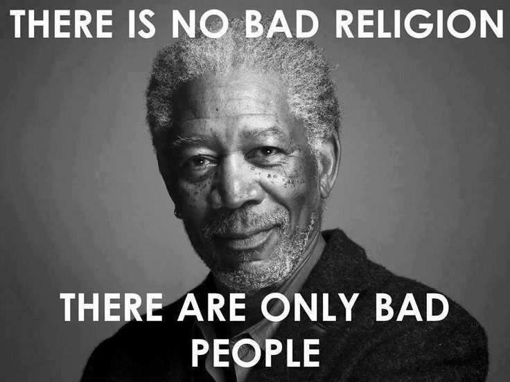 Bad people, not bad religion