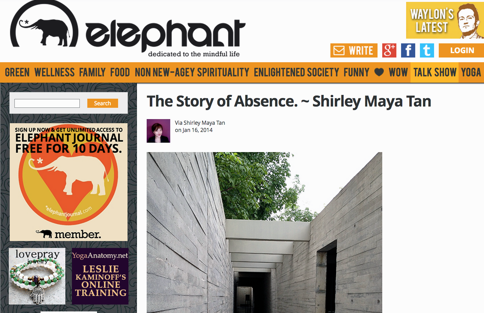 The Art Of Fearless Living: My First Published Article For The Elephant Journal